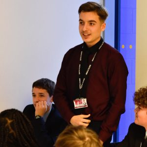 Student learning Political Literacy from Shout Out UK